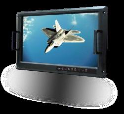 Console militarisée tactile rackable 19 MIL-STD-1